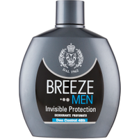 Breeze Invisible Men Protection Deodorante Squeeze 100 ml in vendita da Caddy's Shop Online in offerta